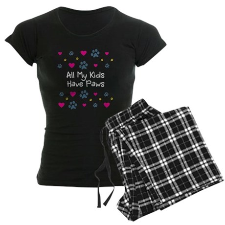 All My Kids/Children Have Paws Womens Dark Pajamas