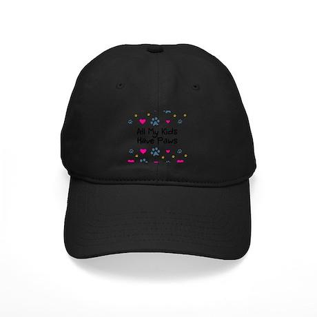 All My Kids/Children Have Paws Black Cap