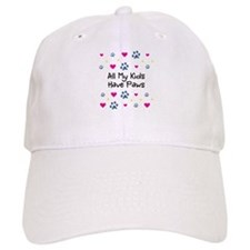 All My Kids/Children Have Paws Baseball Cap