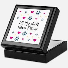 All My Kids/Children Have Paws Keepsake Box