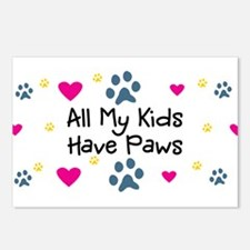 All My Kids/Children Have Paws Postcards (8 Pk)