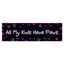 All My Kids/Children Have Paws Car Sticker