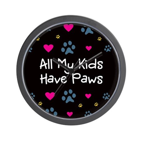 All My Kids/Children Have Paws Wall Clock