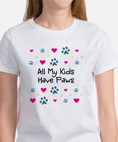 All My Kids/Children Have Paws Women's T-Shirt
