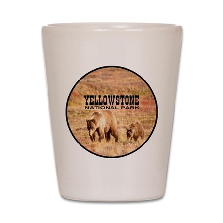 Yellowstone National Park Gri Shot Glass
