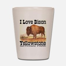 I Love Bison Yellowstone Nati Shot Glass