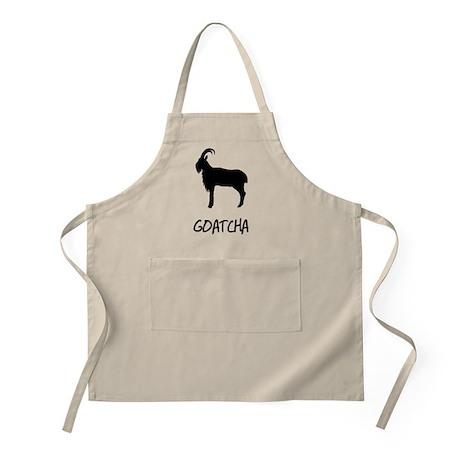 Goatcha Gotcha Funny Shirt Apron