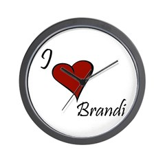 I love Brandi Wall Clock