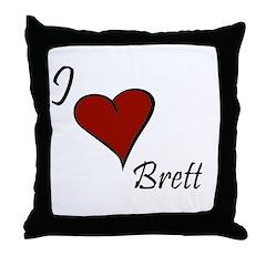 I love Brett Throw Pillow