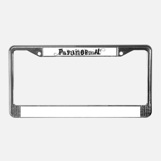 Paranormal License Plate Frame