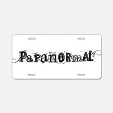 Paranormal Aluminum License Plate