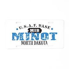 Minot Air Force Base Aluminum License Plate