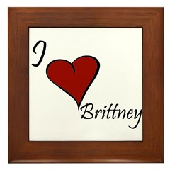 I love Brittney Framed Tile