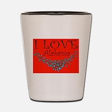 I Love Alabama Hot Affair Shot Glass