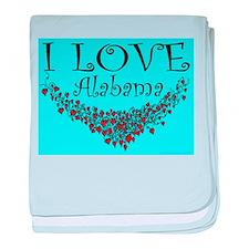 I Love Alabama baby blanket