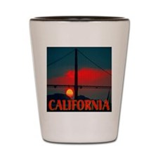 California Bay Area Sunset Shot Glass