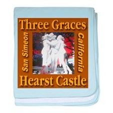 Three Graces Golden Sepia baby blanket