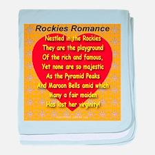 Rockies Romance baby blanket