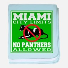 Miami City Limits baby blanket
