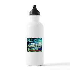 Florida Alligator I Eat Touri Water Bottle