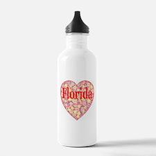 Florida Red Hot Starburst Hea Water Bottle
