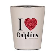 I Love Dalphins Shot Glass