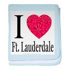 I Love Ft. Lauderdale baby blanket