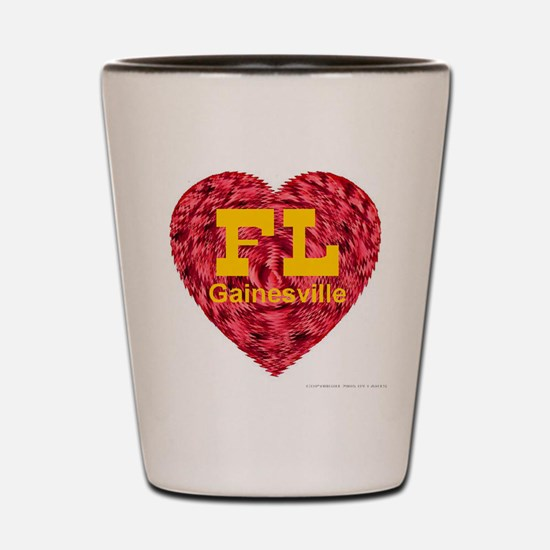 I Love Gainesville FL Shot Glass