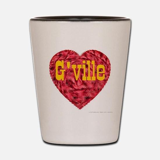 I Love G'ville Shot Glass