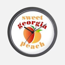 Sweet Georgia Peach Wall Clock