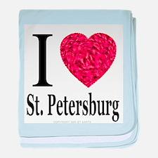 I Love St. Petersburg baby blanket