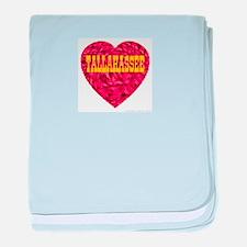 Tallahassee Heart baby blanket