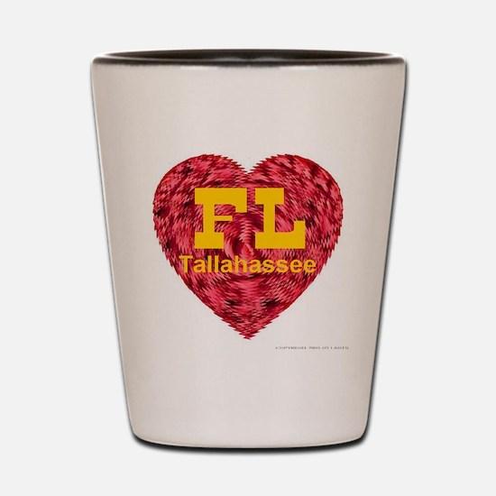 I Love Tallahassee FL Shot Glass