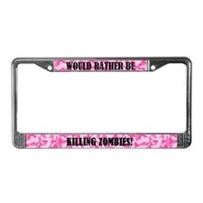 Cool Pink camo License Plate Frame
