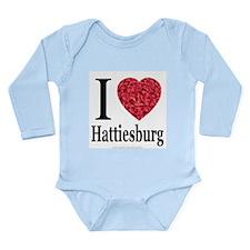 I Love Hattiesburg Long Sleeve Infant Bodysuit