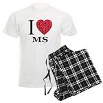 I Love MS Men's Light Pajamas