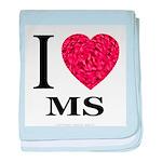 I Love MS baby blanket