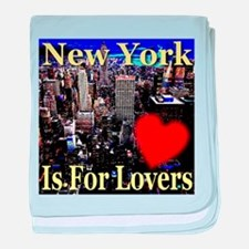 New York Is For Lovers baby blanket