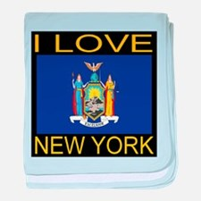 I Love New York baby blanket