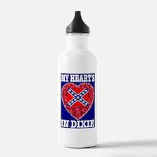 My Heart's In Dixie RWB Desig Water Bottle
