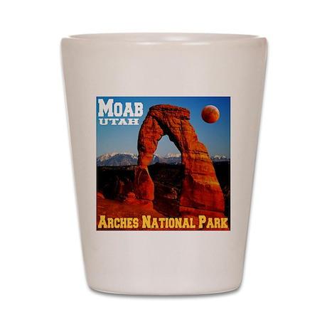 Moab, UT Shot Glass