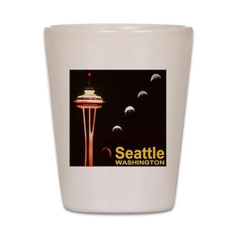 Seattle WA Lunar Eclipse Phases Shot Glass