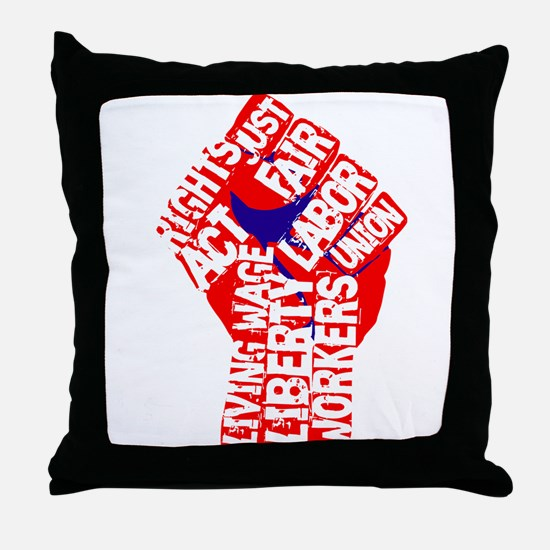 Worker's Civil Rights Throw Pillow