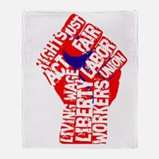 Worker's Civil Rights Throw Blanket