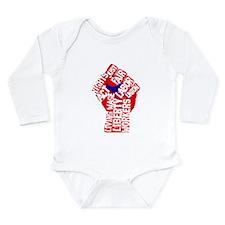 Worker's Civil Rights Long Sleeve Infant Bodysuit
