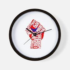 Worker's Civil Rights Wall Clock