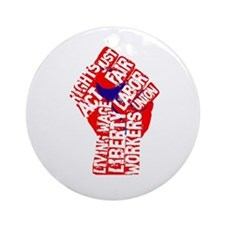 Worker's Civil Rights Ornament (Round)