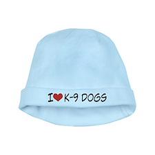 I Love K-9 Dogs Baby Hat