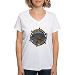 Bluegill Master Women's V-Neck T-Shirt