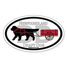 Draft Dog (DD) Oval Decal